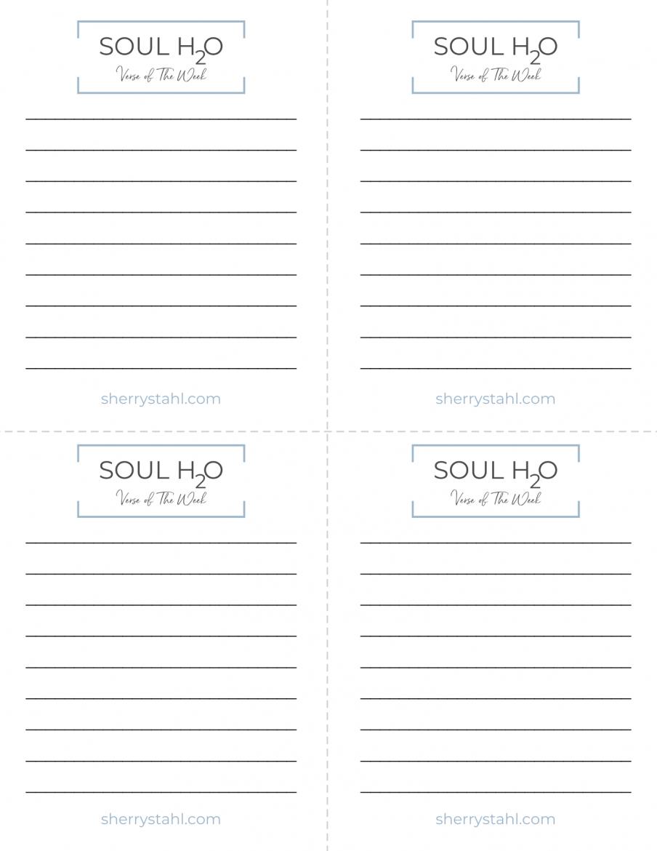 Verse Of The Week-Soul H2O
